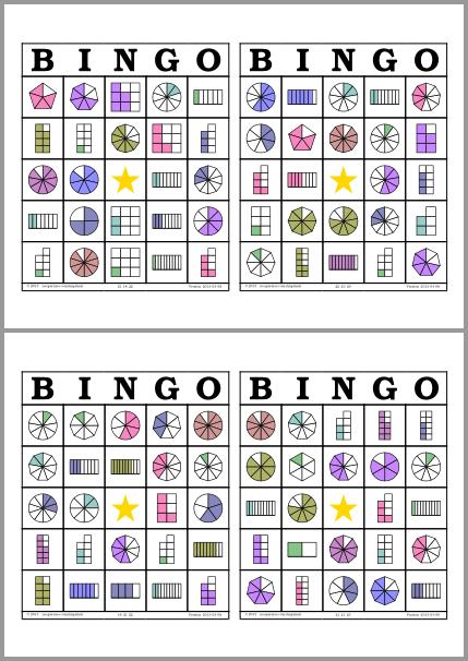 Bingo de fracciones (neoparaiso.com)