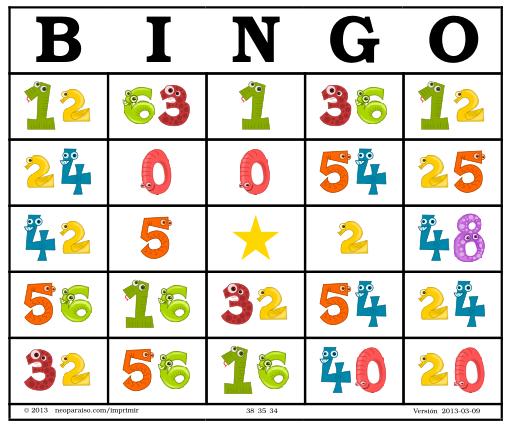 Bingo De Multiplicaciones Neoparaiso Com Didactalia Material