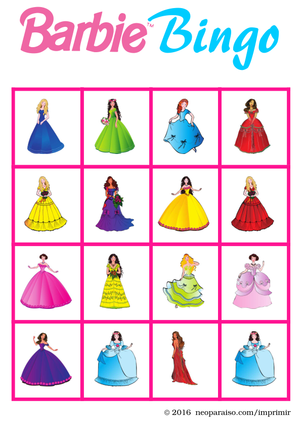 Bingo de Princesas