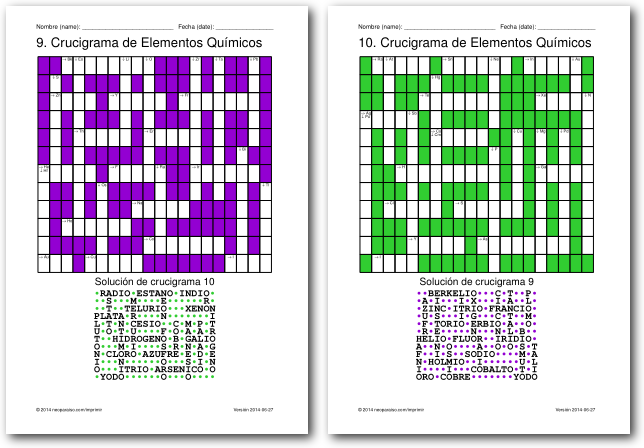 Crucigramas de elementos qumicos crucigramas de los elementos qumicos urtaz Images