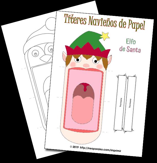 Títeres De Navidad Para Imprimir