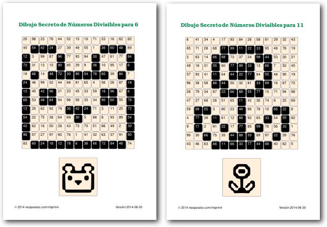 Juegos De Divisibilidad Juegos Matematicos Para Ninos