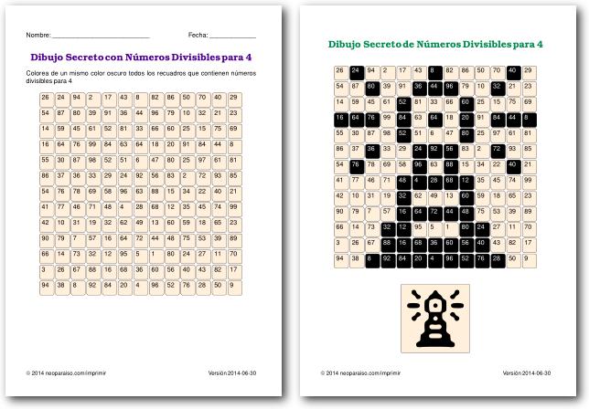 Juegos de Divisibilidad - Juegos Matemáticos para Niños