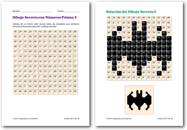Juegos De Numeros Primos Juegos Matematicos Para Ninos