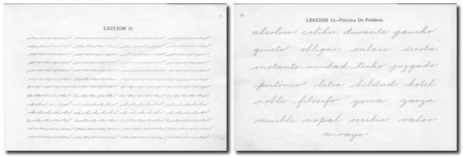 Imagen: libro de caligrafia