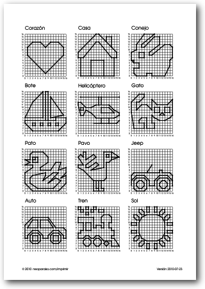 Figuras en el plano cartesiano for Programa para hacer planos sencillos