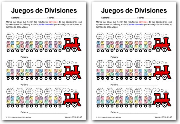 Juegos de Divisiones