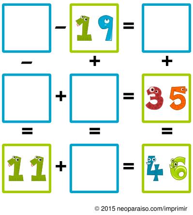 Resultado de imagen de sumas y restas