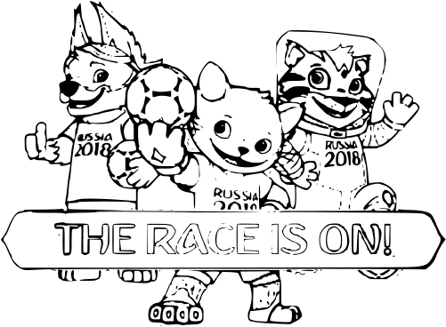 Mascota Del Mundial 2018 Zabivaka Para Colorear