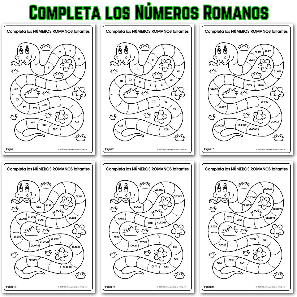 Tabla de Números Romanos del 1 al 5000