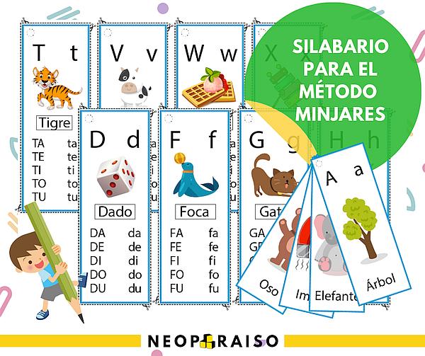Llavero De Silabas Para Aprender A Leer