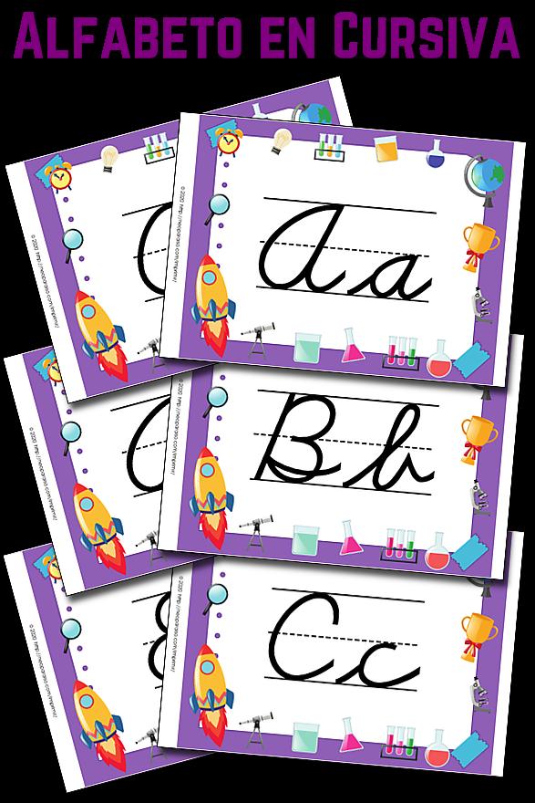 Carteles De Letras En Cursiva
